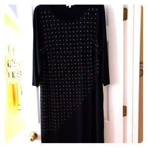 Dresses & Skirts - Plus Size Black Gold Studded Dress